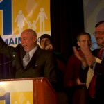 Frank Schubert along with Marc Mutty rally Yes on 1 supporters at a campaign event